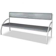 Банкетка со спинкой диван 3-местная (бюджет и люкс)